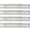 Miyuki Tila Beads 5X5mm 2 Hole Silver Transparent